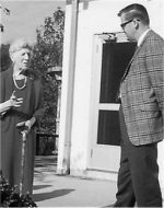 Laura Brinton discusses Brinton Brook Sanctuary with then-SMRA President Stan Lincoln, circa early 1970s. Photo: SMRA