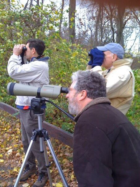 Birders at Croton Point. Photo: SMRA/Anne Swaim
