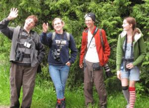 Students at Audubon Youth Birding Camp in Maine. Photo: SMRA/Lewis Lolya.
