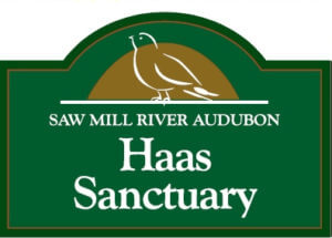 Entrance sign for Haas Sanctuary on Sheather Road in the Town of New Castle.