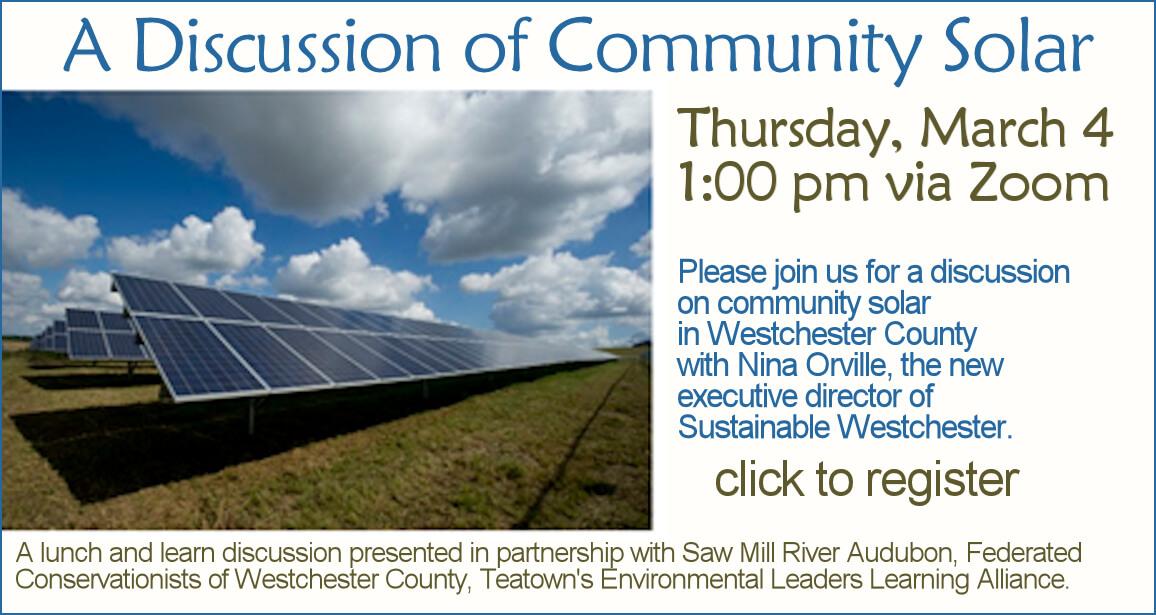 Zoom Conversation: Community Solar