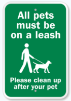 For the sake of wildlife and other visitors, all dogs *MUST* be leashed. Repeat offenders will be reported. And, of course, also pick up after your dog.